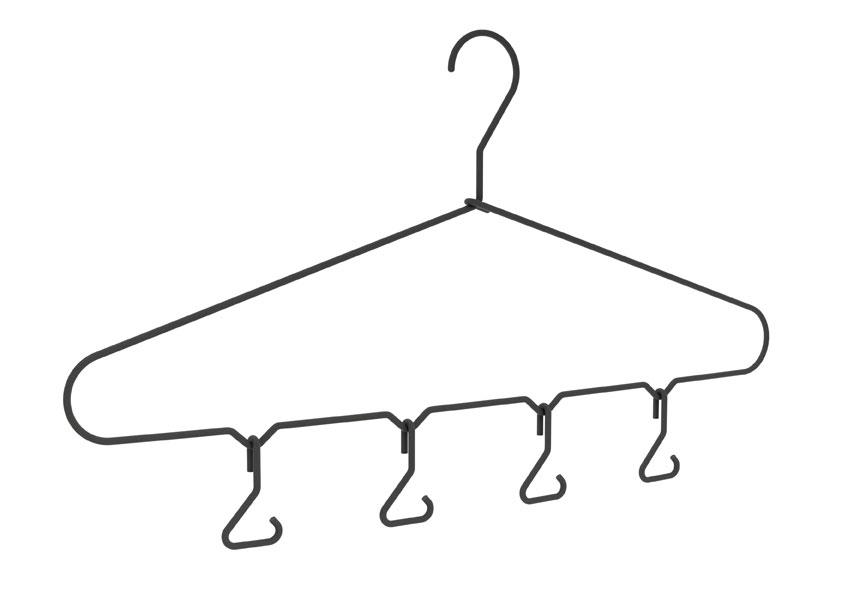Ramínko na šaty s háčky
